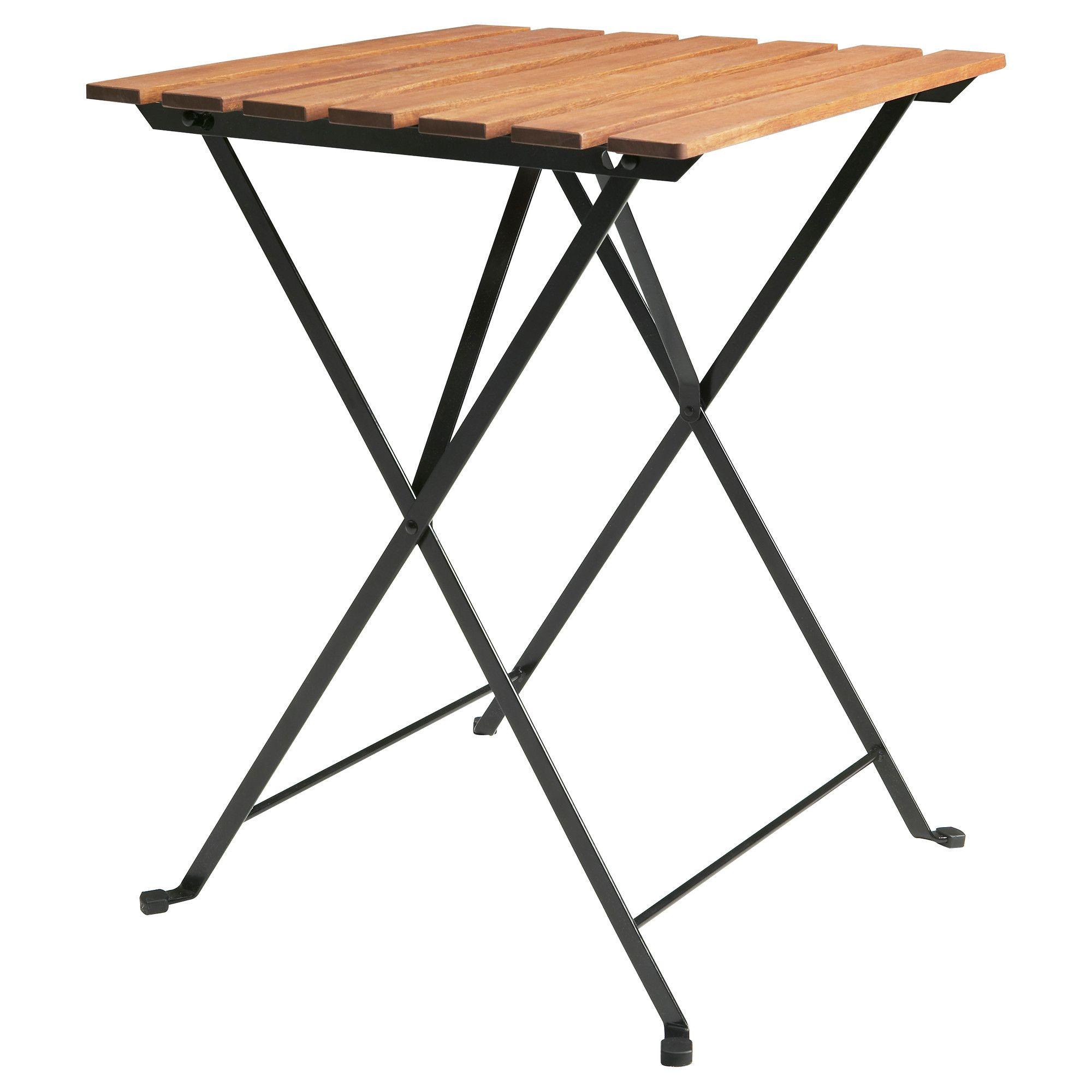 Klapptisch ikea  TÄRNÖ Tisch/außen, schwarz Akazie, graubraun lasiert Stahl ...