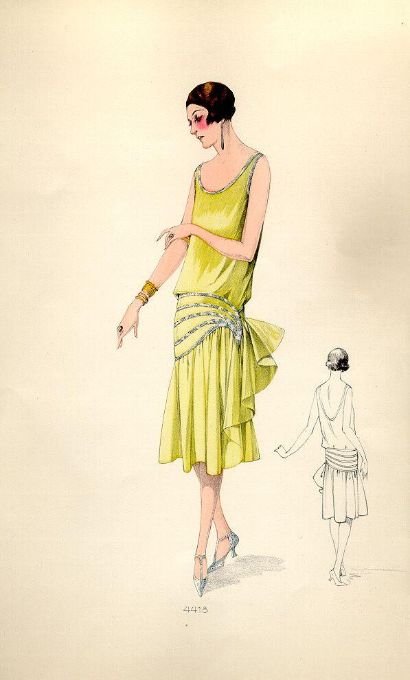 Yellow Lemon Sparkles Flapper Roaring20s 1920s Fashion Art Deco Fashion Fashion