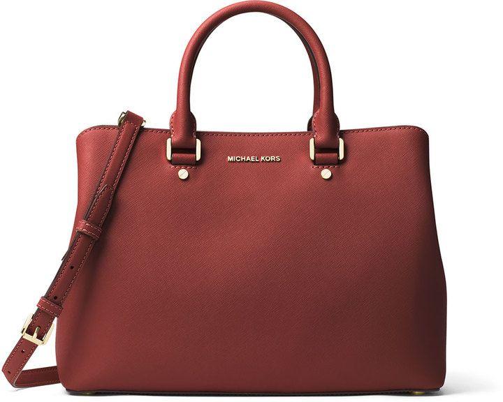 1f3705cc9574 MICHAEL Michael Kors Savannah Large Saffiano Satchel Bag