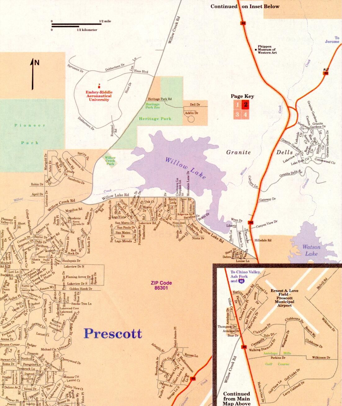 Map Of Arizona Prescott.Map Of Prescott Valley Az Prescott Arizona Maps Prescott Az Maps