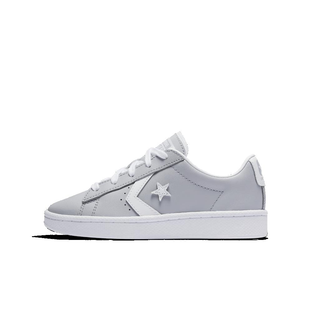 45c9dd15e7b5d7 Converse Pro Leather Low Top Little Big Kids  Shoe Size 11C (Grey ...
