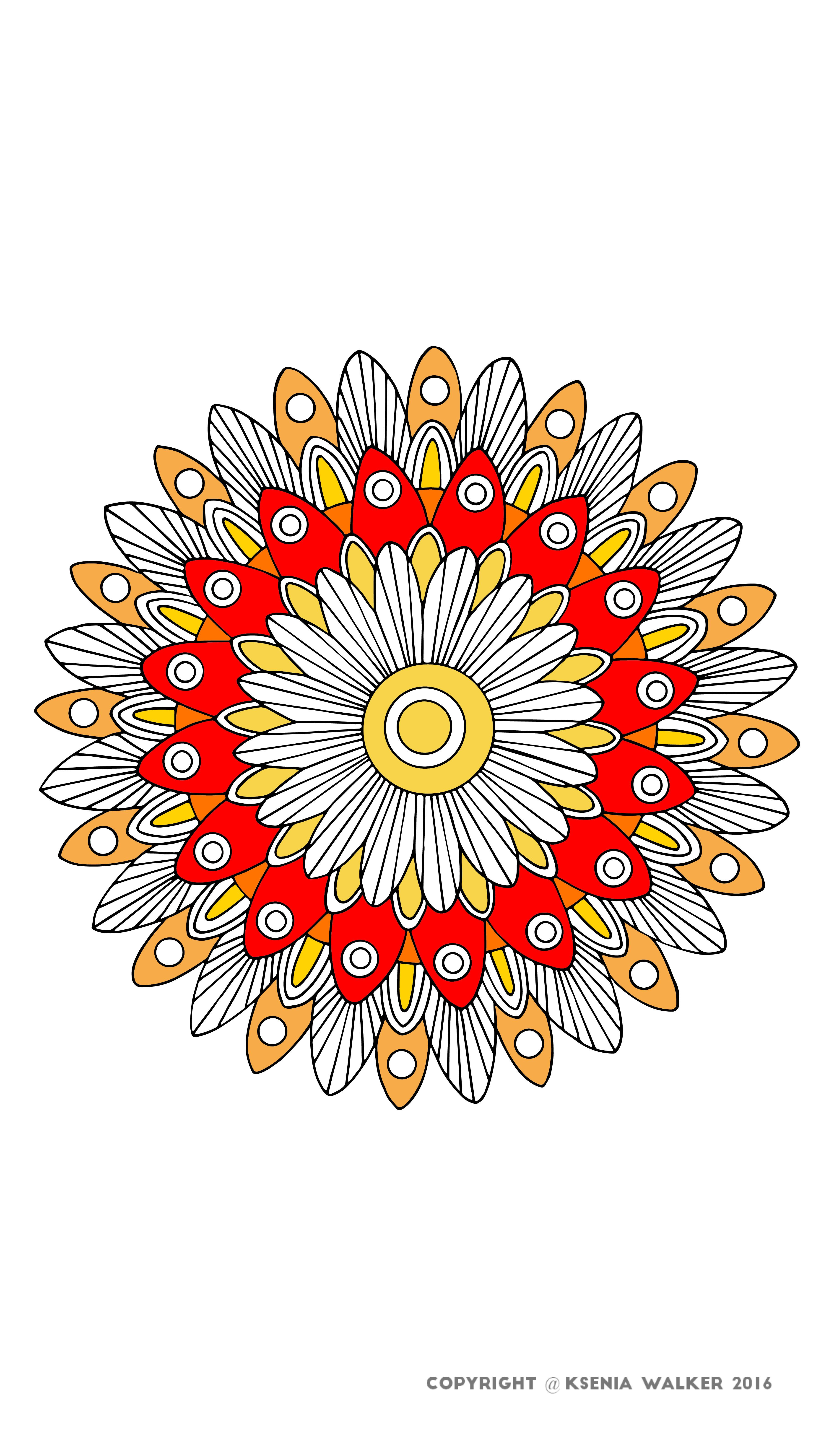 coloring, coloring page, coloring book, mandala, zentangle, ksenia ...