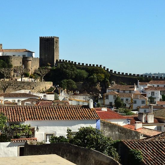 medieval obidos historic walled city in portugal walled on walled id=13223