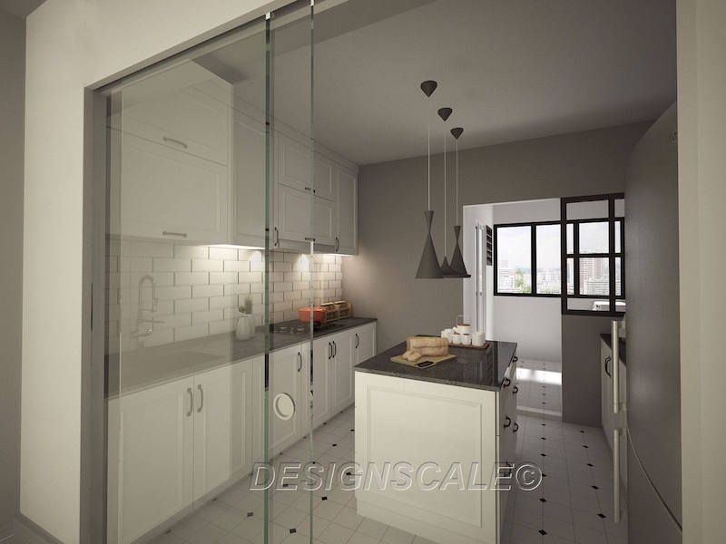 Designscale hdb 4 room resale woodlands drive 2 kitchen for Kitchen ideas hdb