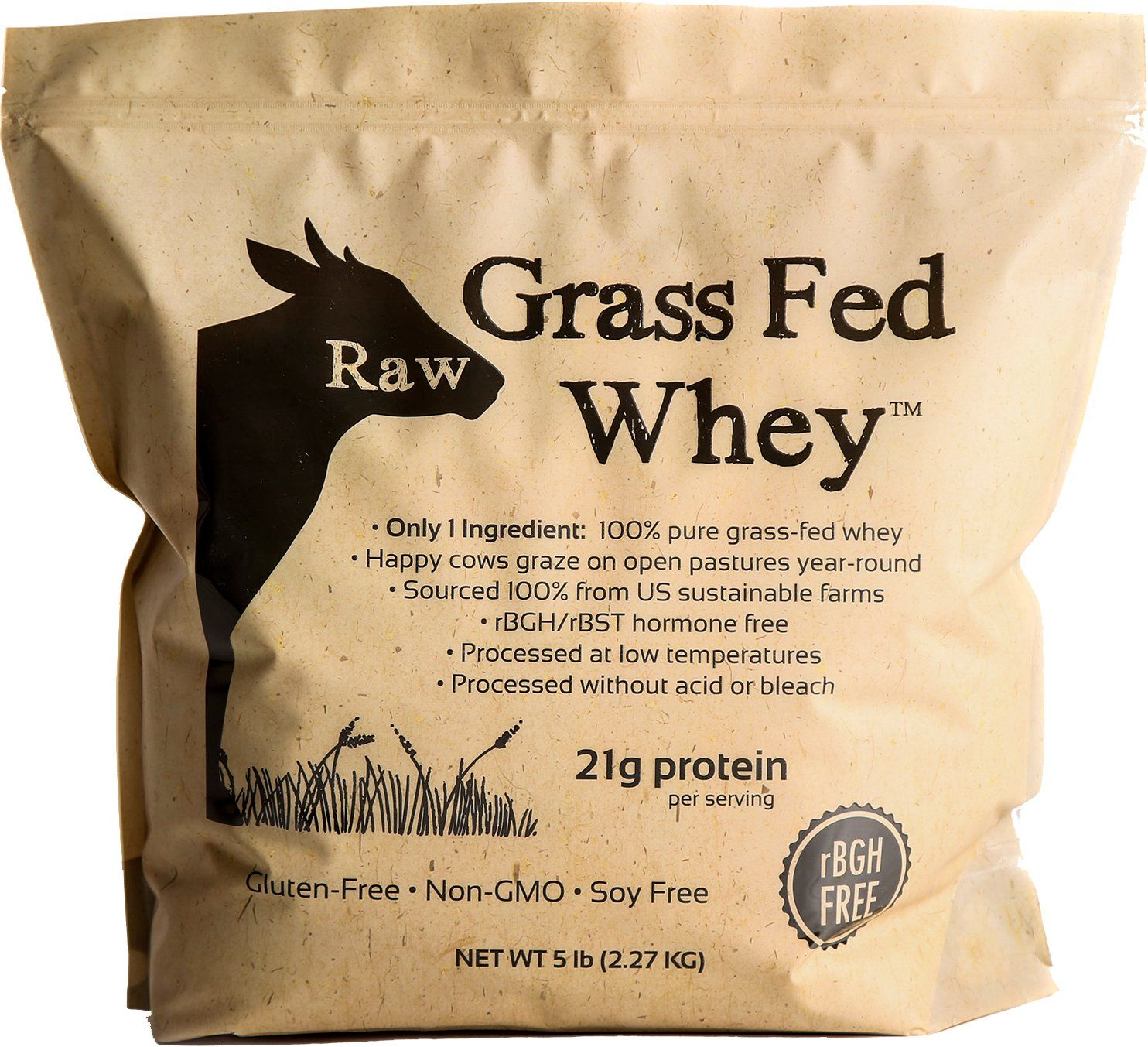 Raw Grass Fed Whey 5lb Happy Healthy Cows Cold Processed Undenatured 100 Grass Fe Grass Fed Whey Protein Grass Fed Whey Protein Powder Organic Whey Protein
