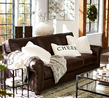 Webster Leather Sofa Potterybarn Living Room Decor Brown Couch Brown Leather Couch Living Room Leather Couches Living Room