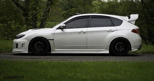 White Subaru With Black Wheels Mmm Cars Pinterest Subaru