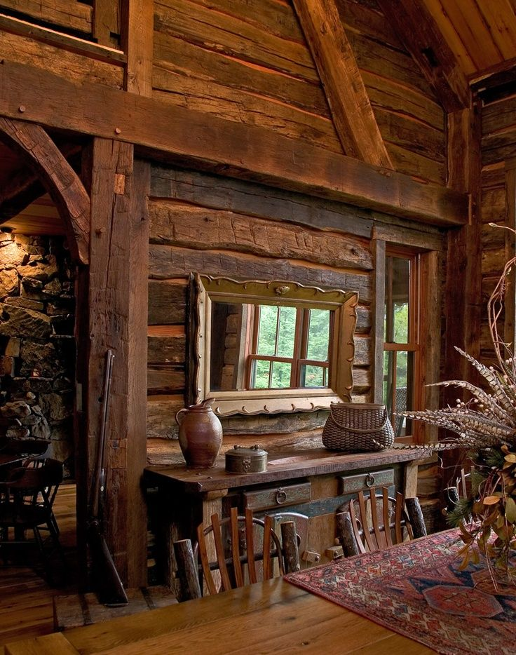 58 Wooden Cabin Decorating Ideas Log Homes Rustic Cabin Wooden Cabins