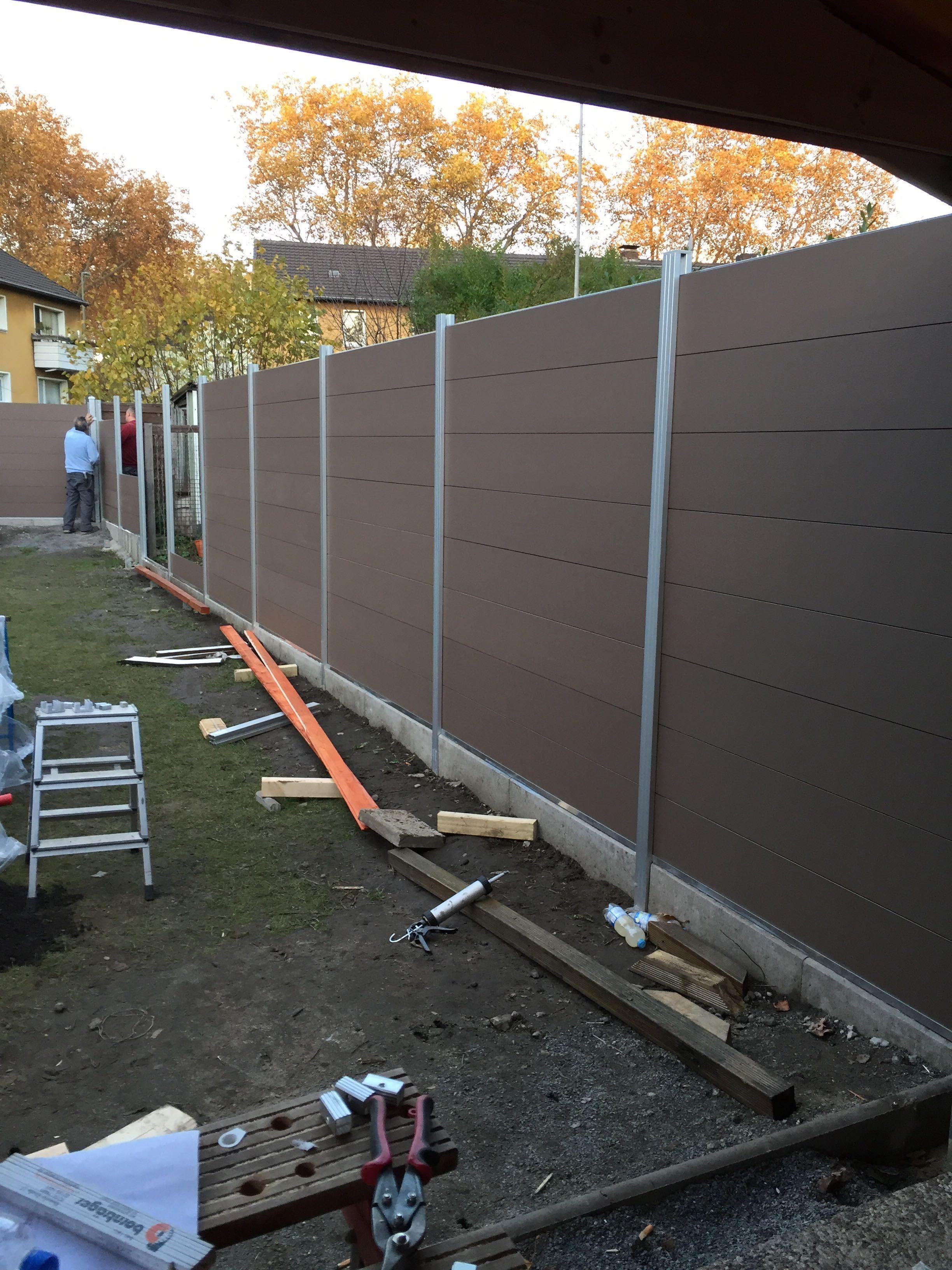 WPC Steckzaun Baltrum ca. 180x180 cm in schokobraun