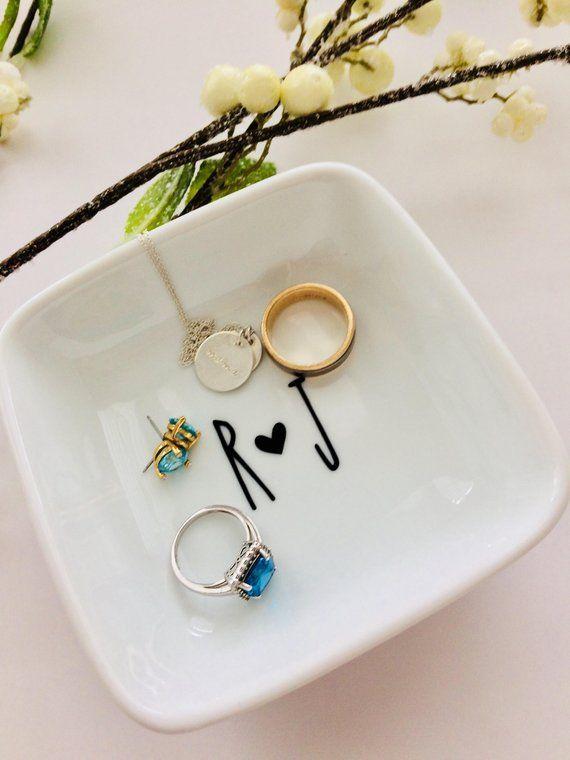 Rae Dunn Inspired Ring Dish Jewelry Dish Wedding Gift Bridal