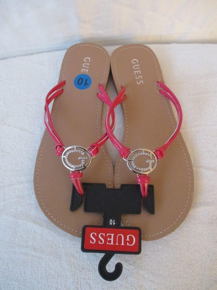 017ce7d35beb Guess Women s Flip Flops Color Pink Silver Size 10 US  GUESS  FlipFlops   Casual