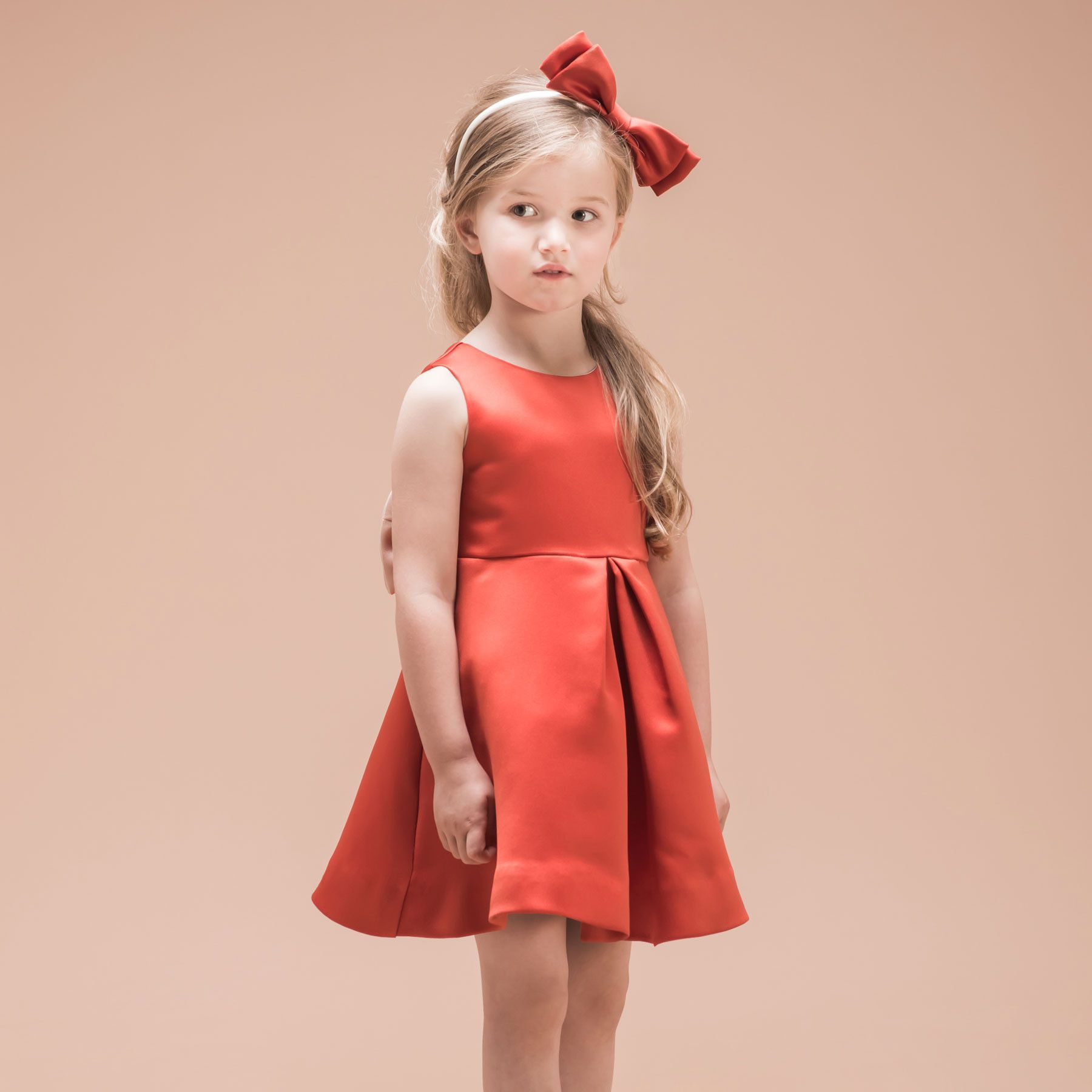 Giant bow bodice dress children sophisticated outfits pinterest