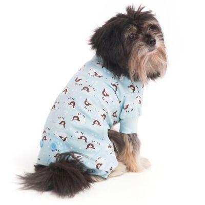 Extra Small Lamb Print Pet Pajamas In Puppies In Pajamas Dog