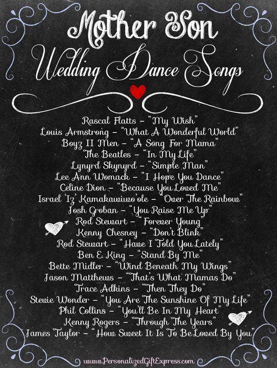 Top 20 Mother Son Dance Wedding Songs Wedding dance