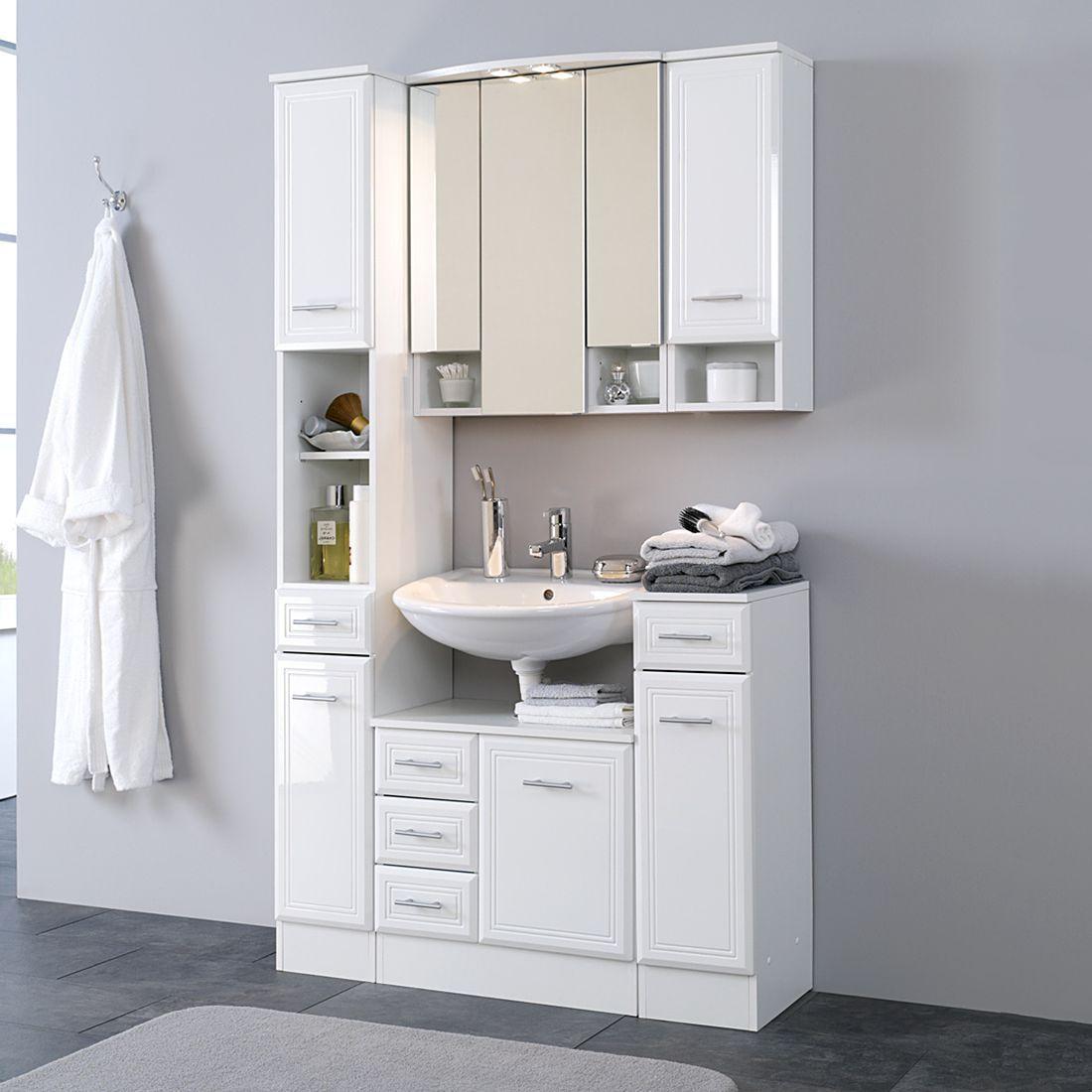 bad hängeschrank weiß 50 cm | badmöbel günstig online ...