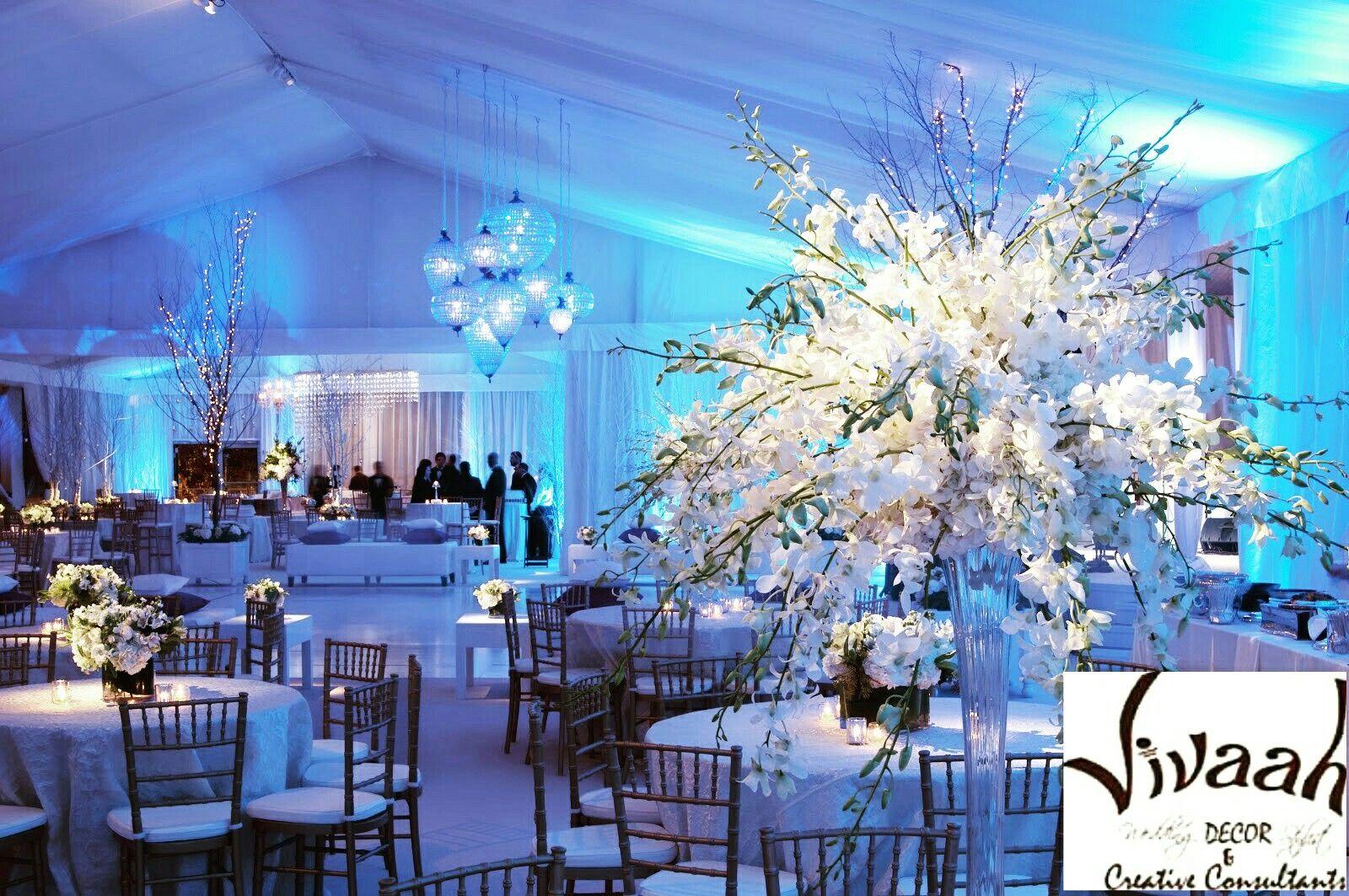 Blue themed wedding decor  Love dream weddinvivaah dream decor party cruisers  Destination