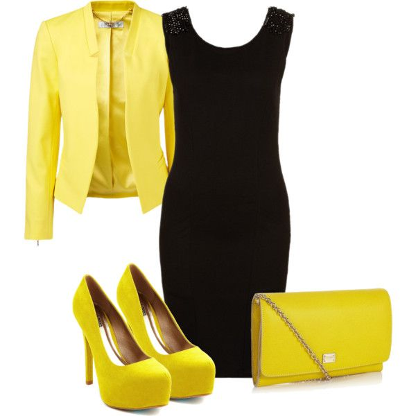 """""""Yellow 2"""" by pollydickson on Polyvore"""