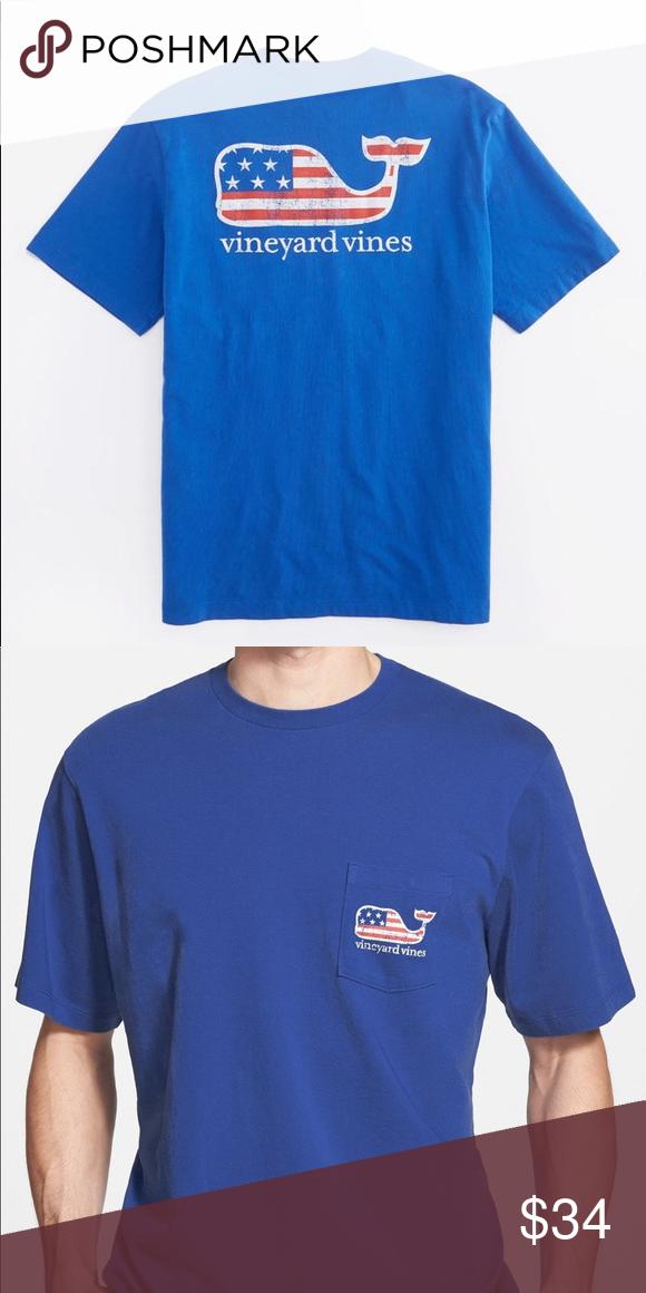 33004282b Vineyard Vines T-Shirt Vineyard Vines - Flag Whale Graphic T-Shirt. Has a  pocket. Brand new. Size L. Vineyard Vines Shirts Tees - Short Sleeve