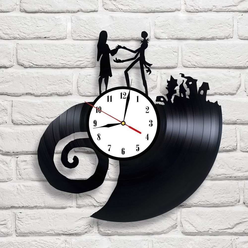The Nightmare Before Christmas - 4 vinyl record clock in 2018 | {The ...