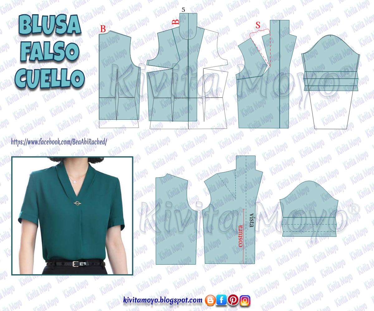 blusa manga rangla   Patrones de blusas modernas, Patrones