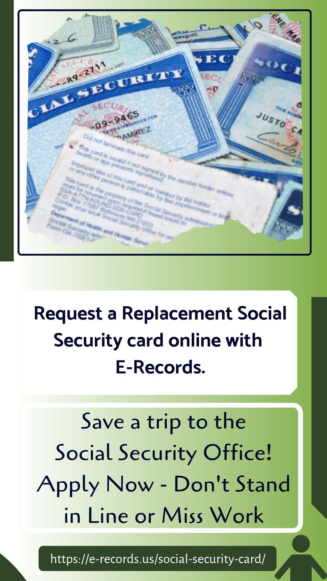 Request A Social Security Card Replacement Online E Records Social Security Card Social Security Office Waiting In Line