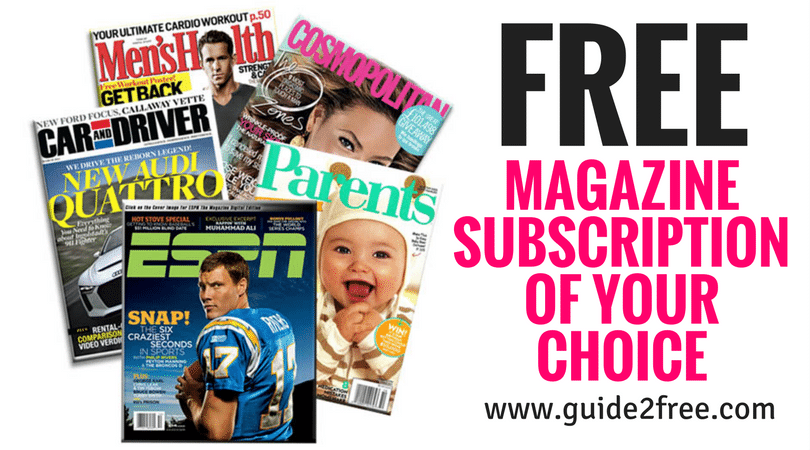 be5f0a5388f Get a FREE Magazine Subscription of Your Choice!! Just register with Rewards  Survey and answer a couple questions to get your first free  20 reward.