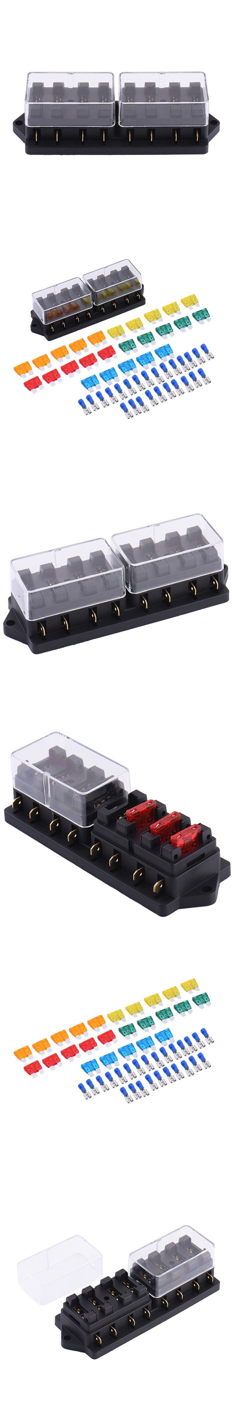 12v 8 way fuse block holder box car vehicle circuit automotive blade with 15pcs fuse accessory [ 800 x 4800 Pixel ]