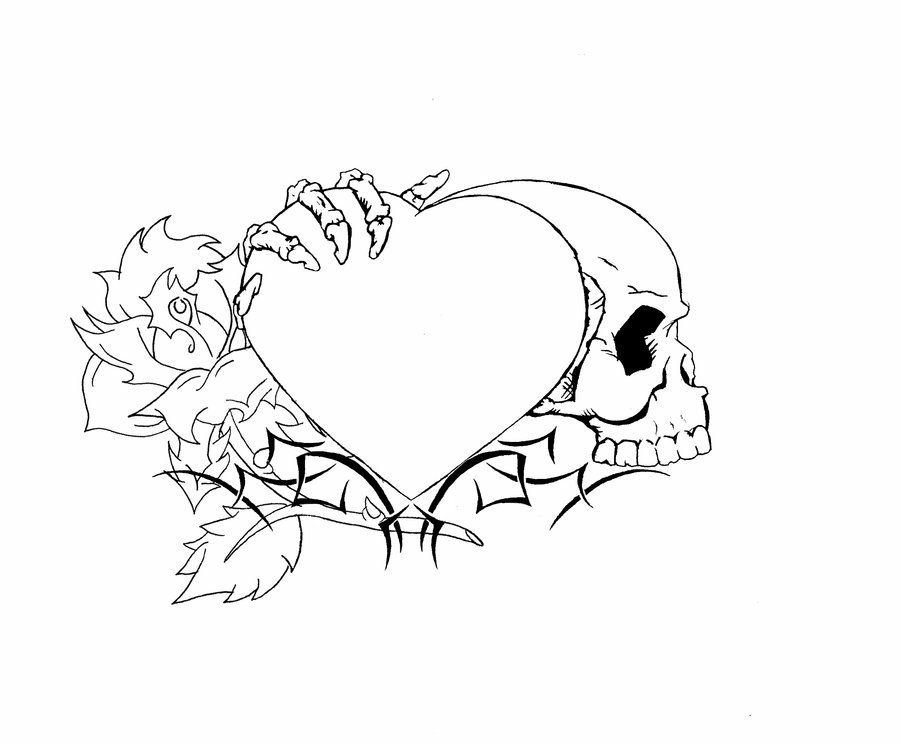 Tattoo Drawings In Pencil Easy Tattoo Designs For Beginners Skull Heart Tattoo Designs Pencil Drawings Drawings
