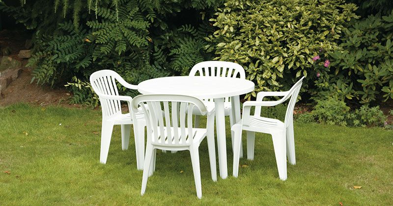 hire plastic tables chairs from event hire uk - Garden Furniture Hire