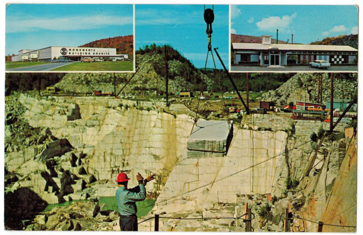 Vermont Vintage Postcard Barre Rock Of Ages Granite Quarry Mountain Wall Decor 1960s Retro By Postcardigans O Travel Postcard Vermont Mountains Tourist