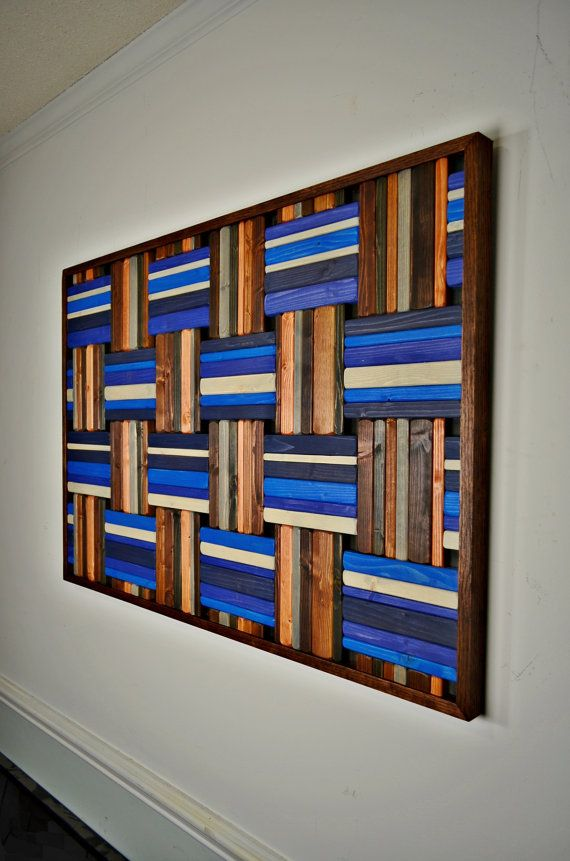 Wooden Wall Art Grecian Weave Wood Wall Art Wood Art Large