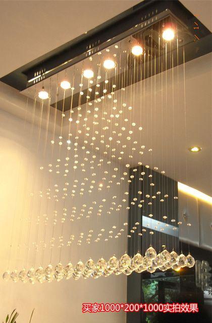 Modern tér kristály mennyezeti lámpa forgó rozsdamentes acél LED ...