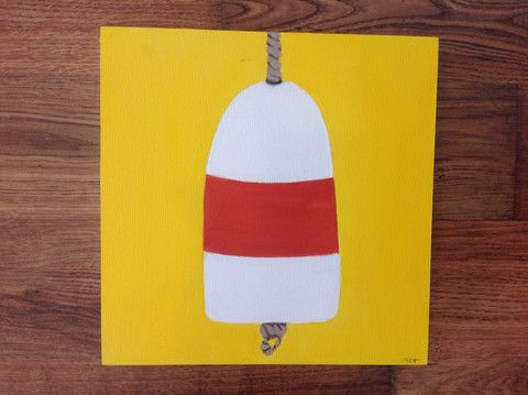 Mary Catherine Buoy: Yellow Buoy – The Little Beach Gallery