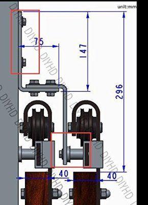 Schiebetürbeschlag stall  DIYHD 6.6ft Wand-Unterstützung für Schiebetür-Stall-Tür-Art-Eisen ...