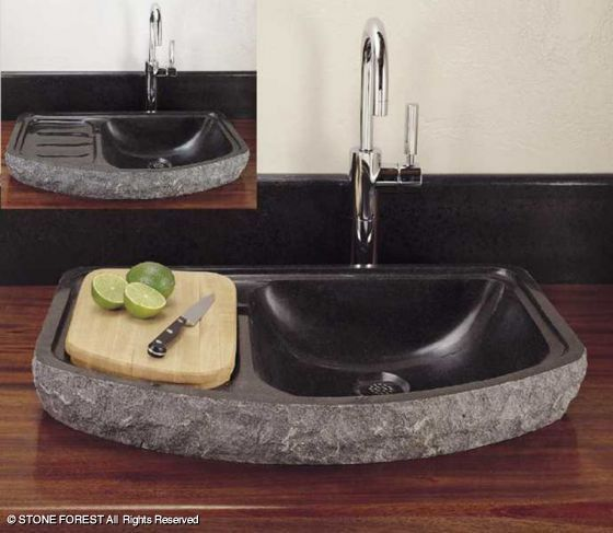 Chopping Station And Sink In One Bar Sink Stone Sink Kitchen