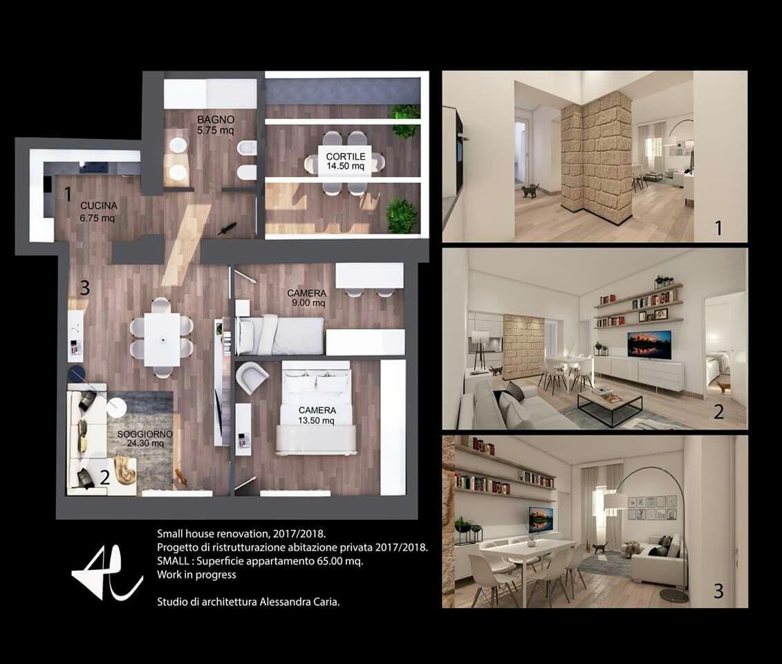 Appartamento 65 Mq. Design Di Interni. Ristrutturazione Abitazione Privata  2017/2018. Studio