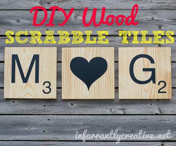 DIY wood scrabble tiles, inexpensive gift