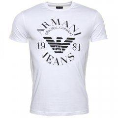 9042aaf8 Armani Jeans Mens White Circle Logo S/s Tee Shirt | Hurley ...
