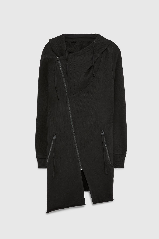 Asymmetric hooded jacket Jackets, Hooded jacket, Long
