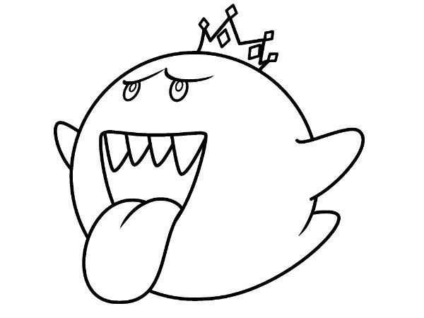 Coloring page from boo for King boo coloring pages