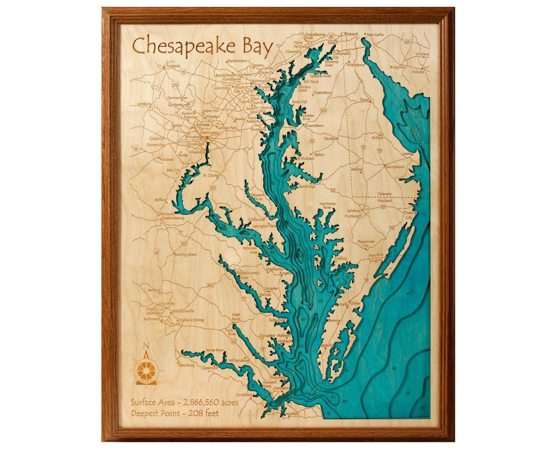 Chesapeake Bay 16x20 3D Wall Art   3d wall art, 3d and Shadow box