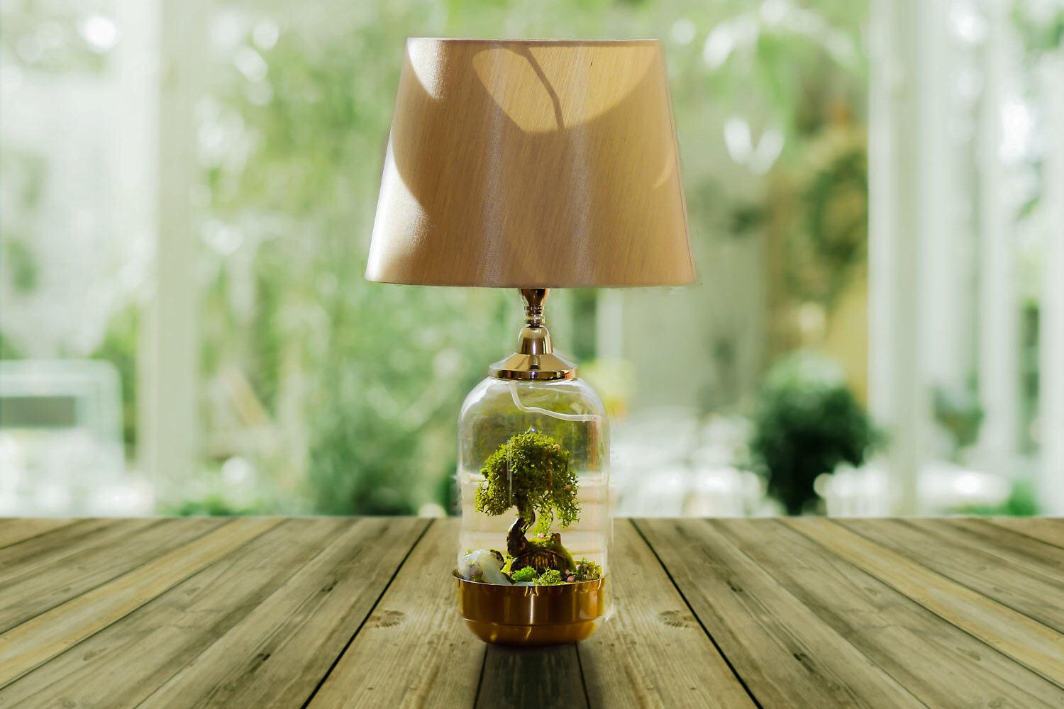 Hobbit Table lamp, Glass Cloche lamp, Lord of The Rings