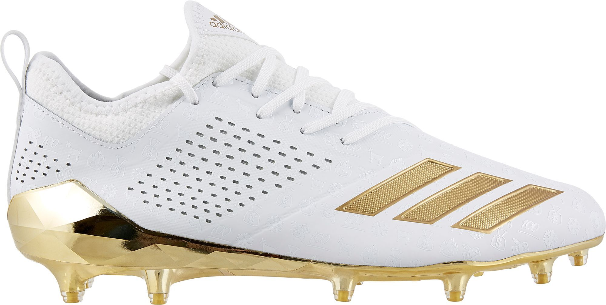 the latest 0cb07 88550 adidas Mens adiZERO 5-Star 7.0 adiMoji Pack Football Cleats, Size 12.0,  White