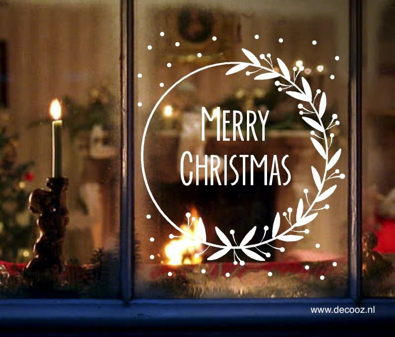 Sticker Merry Christmas - www.decooz.nl