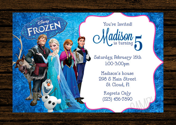 Custom Disney Frozen Birthday Party By WoodsDesignStudio On Etsy 800