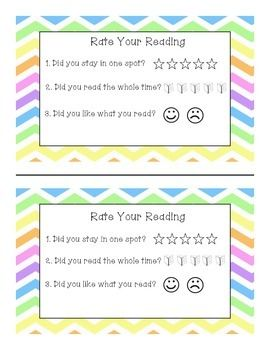 Daily 5 Read to Self FREEBIE!!  Students fill these out after their independent reading time.
