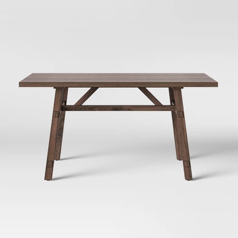 Bourne Base Dining Table Brown Threshold Dining Table Brown