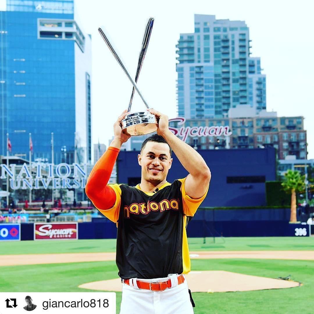 Stanton Sets Hr Derby Record Espn Baseball Marlins Baseball Toronto Blue Jays Baseball
