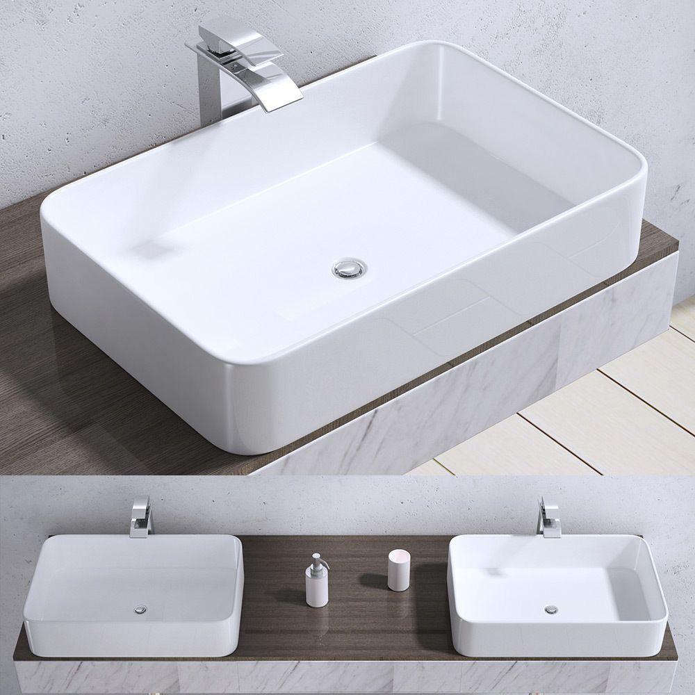 Waschschale Aufsatz Waschbecken Waschtisch Waschplatz 58 X 38 Cm Brussel105d Wow Waschbecken Waschtisch Aufsatzwaschbecken