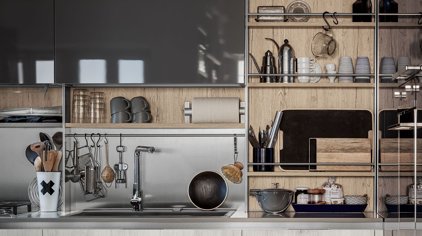 Boiserie Da Cucina : Stepsystem è una boiserie di raccordo tra base e pensile che